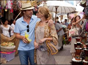 Bardem, left, and Julia Roberts appear in a scene from 'Eat, Pray, Love.'