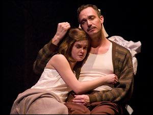 Kelly Klein and Danny Vaccaro in Barter Theatre's 'The Diary of Anne Frank.'
