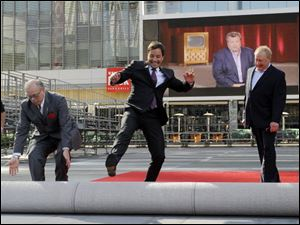 Emmys host Jimmy Fallon, center, says, 'It is a crazy-good year for TV.' There is a lot of buzz around new shows 'Glee' and 'Modern Family'.