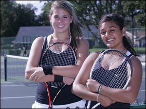Drew Fillis, left, and Shivani Bhatt of Ottawa Hills both have state tennis tournament experience. Fillis, a junior, has twice reached state in singles. Bhatt, a sophomore, made the Division II state tourney in doubles last season with her sister, Arohi.