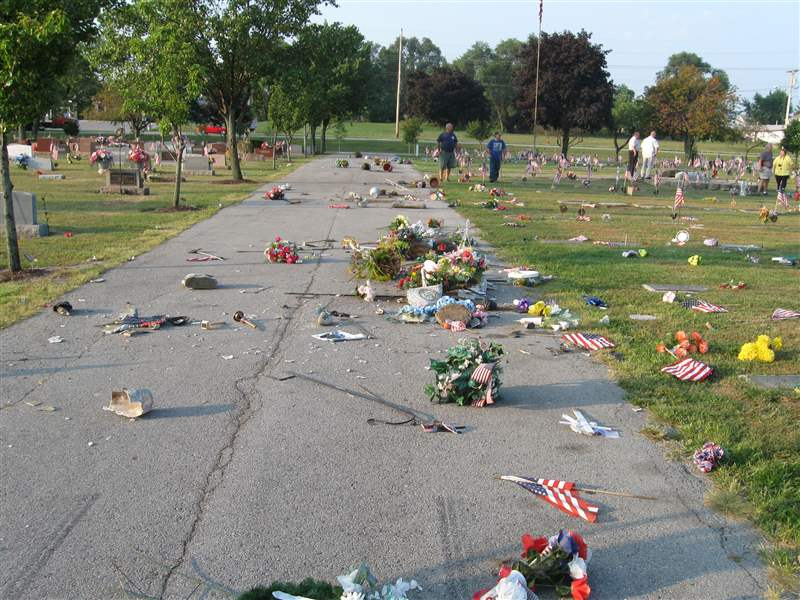 Crews-restore-Clyde-cemetery-hit-by-vandals-2