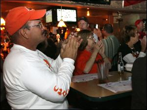 Steve Yarbrough backs his Browns at Shawn's Irish Tavern.