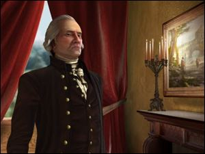 An animated version of George Washington for Sid Meier's Civilization V.