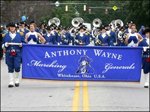 The Anthony Wayne band marches in the 2009 Roche de Boeuf festival parade.