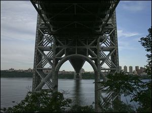A view of the George Washington Bridge in New York City. Tyler Clementi, an 18-year-old freshman at Rutgers University, is thought to have jumped off the bridge days after he was secretly filmed and broadcast on the internet.