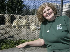 Toledo Zoo program manager Linda Calcamuggio says her expectations 'are to be startled by the beauty' of the surroundings of the camp sponsored by Polar Bears International.
