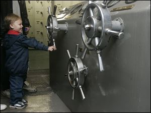 ROV steering  The Blade/Lori King  10/04/2010  Toledo resident Matthew Zimmerman, 3, plays with a turbine engine valve on the S. S. Willis B. Boyer Museum Ship that's permanently docked at International Park in Toledo, Ohio. The ship is gearing up to celebrate its 100-year anniversary next year. The Boyer (formerly the Col. James M. Schoonmaker) was built in 1911 and retired in 1980 after 69 years of service.