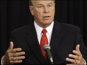 Gov. Ted Strickland has said he doesn't believe a tax increase in the midst of a recession would be wise, but he has declined to take a pledge on the issue.