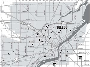 "<img src=http://www.toledoblade.com/assets/jpg/TO66067417.JPG> <b><font color=red>VIEW MAP:</b></font color=red> <a href=""/assets/pdf/TO743501010.PDF"" target=""_blank ""><b>Shooting violence in Toledo</b></a> Oct. 10, 2010"