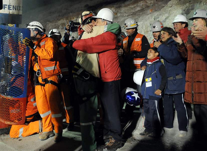 Last-trapped-Chilean-miner-rescued-ordeal-ends