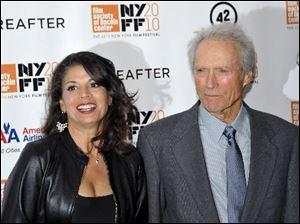 Clint Eastwood with his wife, Dina, at the