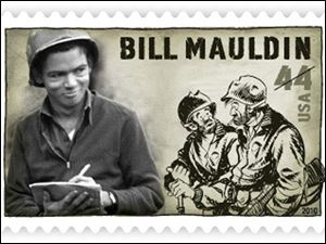 Bill Mauldin was honored by the U.S. Postal Service this year.