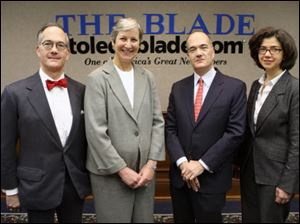 The Blade is owned and operated by Block Communications Inc., whose executive committee comprises, from left, John Robinson Block, Karen Johnese, Allan Block, Diana Block, and William Block Jr. (not pictured).