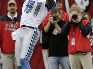 Lions wide receiver Calvin Johnson has boosted the team's potent passing attack.