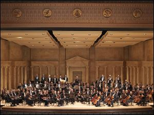The Toledo Symphony Orchestra at the Toledo Museum of Art Peristyle.