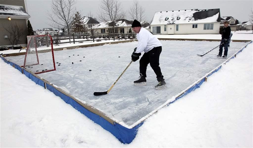 Backyard Rinks Not Big Business The Blade - Ice rink in backyard