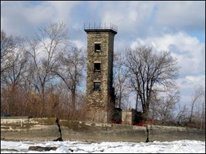 What is left of the lighthouse on Turtle Island, seen here in 2009, still serves as a landmark to Lake Erie boaters today.