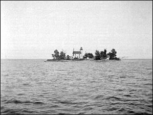 Turtle Island in Lake Erie, seen in this historical photo, was named for Chief Little Turtle of the Miamis in the late 18th century. In his time it was a lush spot of more than 6 acres, two-thirds of which has been eroded by water.