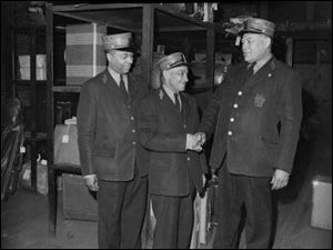 Three members of the union's Pennsylvania Railroad group. Joseph Trotter, professor and chairman of the history department at Carnegie-Mellon University, said riding the rails gave porters opportunities to become well-traveled and educated.