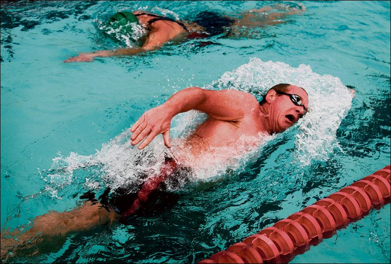 Swimming Laps Shedding Pounds Toledo Blade