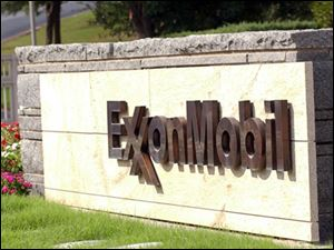 Exxon Mobile headquarters sign.