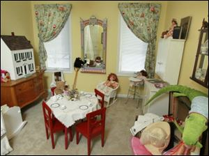 Tea time was the inspiration for this playroom.