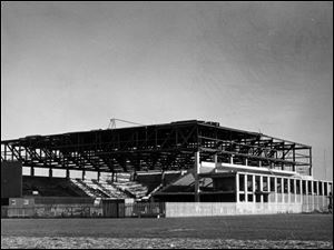 Anderson Arena was under construction on April 16, 1961.