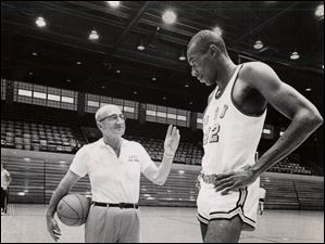 Nate Thurmond was coached by Harold Anderson when he played for Bowling Green State University in the early 1960s. Thurmond would go on to an impressive professional career as one of the greatest rebounders and shot blockers in NBA history.