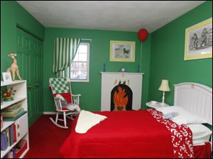 "Annamarie Mack's bedroom was inspired by Clement Hurd's illustrations in the storybook ""Goodnight Moon."