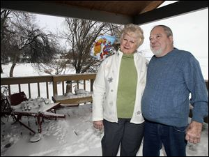 Donna and David Wagner have weathered the years together. They said Friday's snow brought back warm memories, but better conditions would have been nice.