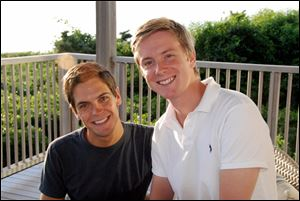 Sean Eldridge, left, a native of Ottawa Hills, and Chris Hughes, one of Facebook's co-founders, plan to marry next year.