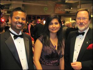 Joe and Neeti Wells with Bob Meeker at Oscar Night: Vegas Style.