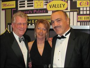 Hisham Zrien and Roberta and Gary Schaber at Oscar Night: Vegas Style.