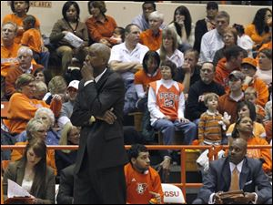 BGSU coach Louis Orr still has one more game to coach in the House That Roars.