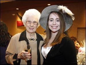 Thelma Cyigon, left, and her granddaughter Sarah Oswald.
