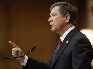 Ohio Gov. John Kasich delivers the State of the State address Tuesday.