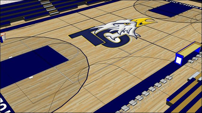Toledo Christian's 20,000 square-foot gymnasium will seat 1,350 people and will host a variety of events, from games to graduations.