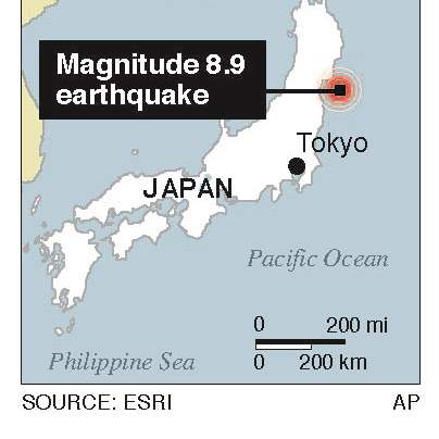 Japan-Quake-Locator-Map