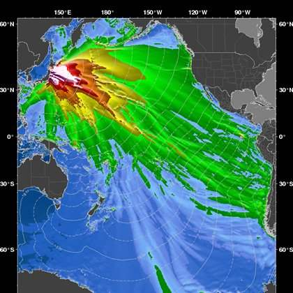 Japan-Quake-Wave-Map