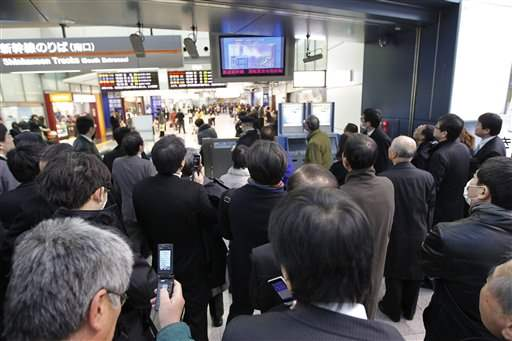 Japan-Quake-Shinagawa-train-station