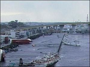 In this video image taken from Japan's NHK TV, ships and boats are washed ashore in Hachinohe, Aomori Prefectur, Japan Friday March 11, 2011 following a masive earth quake.