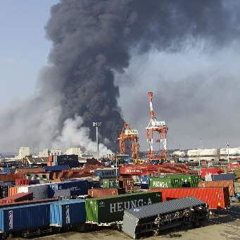 Japan-Aftermath-Sendai-refinery-plant-fire