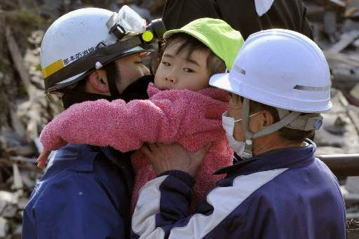 Japan-Aftermath-child-rescued