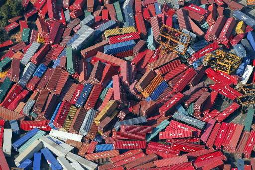 Japan-Aftermath-Sendai-cargo-containers