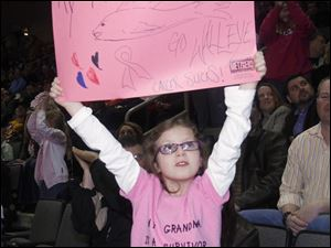 Toledoan Sierra Pilgrim, 8, touts her grandmother's success of surviving cancer.
