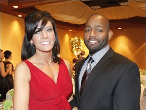 Tracy and Daniel Bates at the American Heart Association's Glass City Heart Ball.