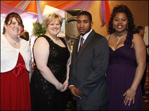 From left, Meghan Stine, Erica Dolph, and Ronald and Natasha Folds.