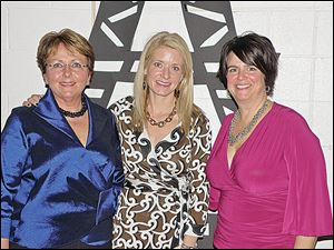 From left, Honorary Notre Dame Academy alumnae Pat Kuhr, with event chairmen Stacy Langenderfer, and Jo Ann Savage.
