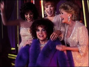 Joan Collins, Shirley McClain, Debbie Reynolds and Elizabeth Taylor star in the Broadway production of