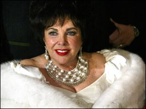 Elizabeth Taylor arrives at her Diamond Jubilee birthday party Feb. 27, 2007, at the Ritz Carlton Lake Las Vegas.